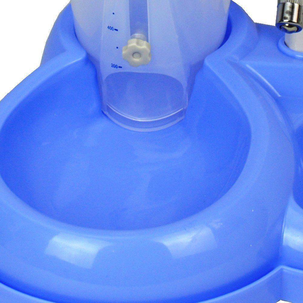 Comedouro bebedouro automatico para cães e gatos CBR04324 azul