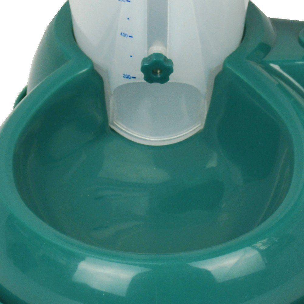 Comedouro bebedouro automatico para cães e gatos CBR04355 verde