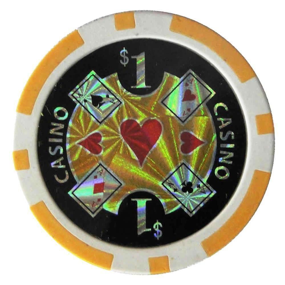 Conjunto 100 Fichas de Poker Numeradas e Decoradas 11,5g - CBR1084