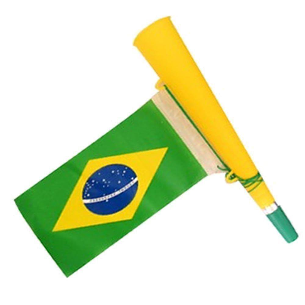 Corneta Bandeira Copa do Mundo AMARELO 5 PEÇAS CBRN06113