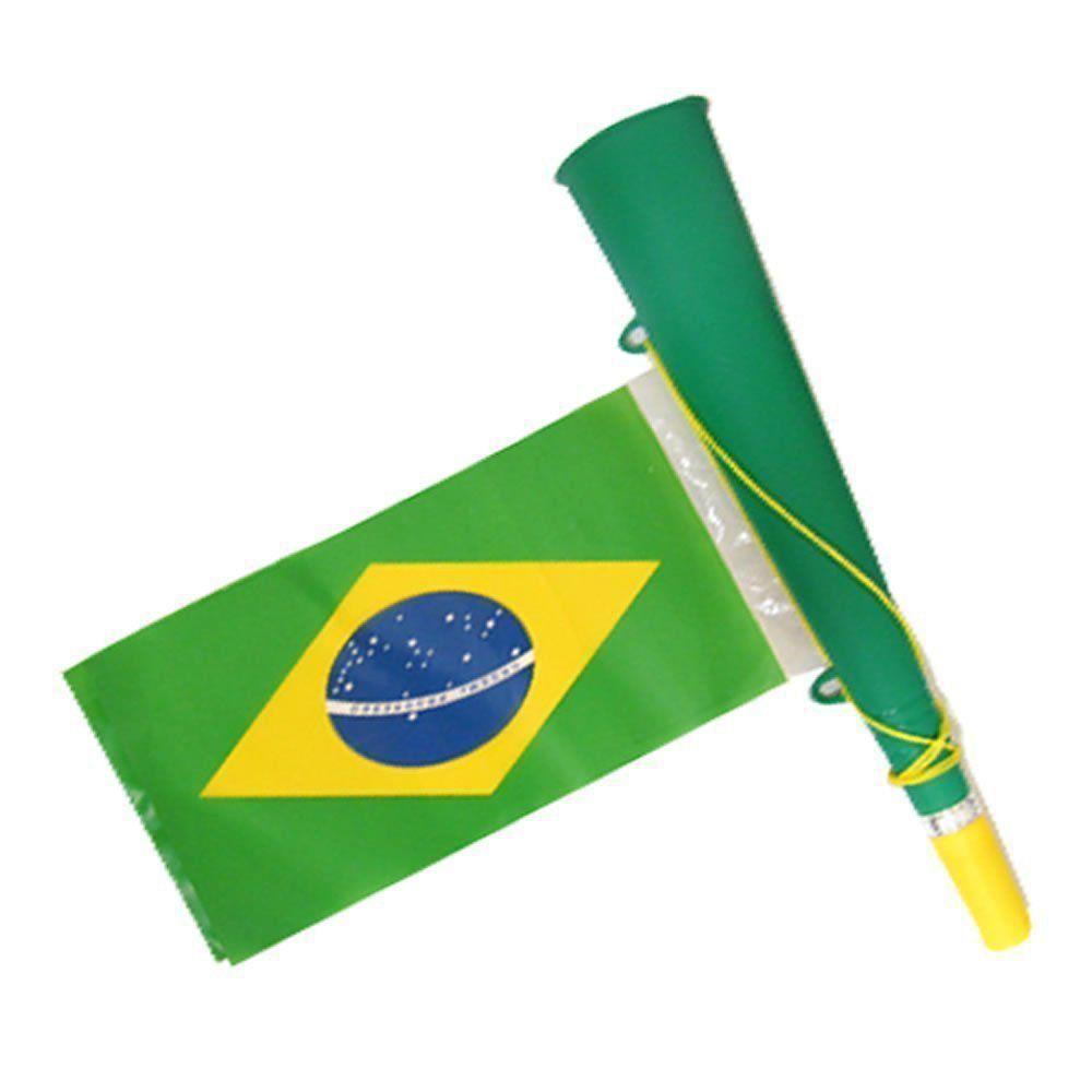 Corneta Bandeira Copa do Mundo VERDE 5 PEÇAS CBRN06120