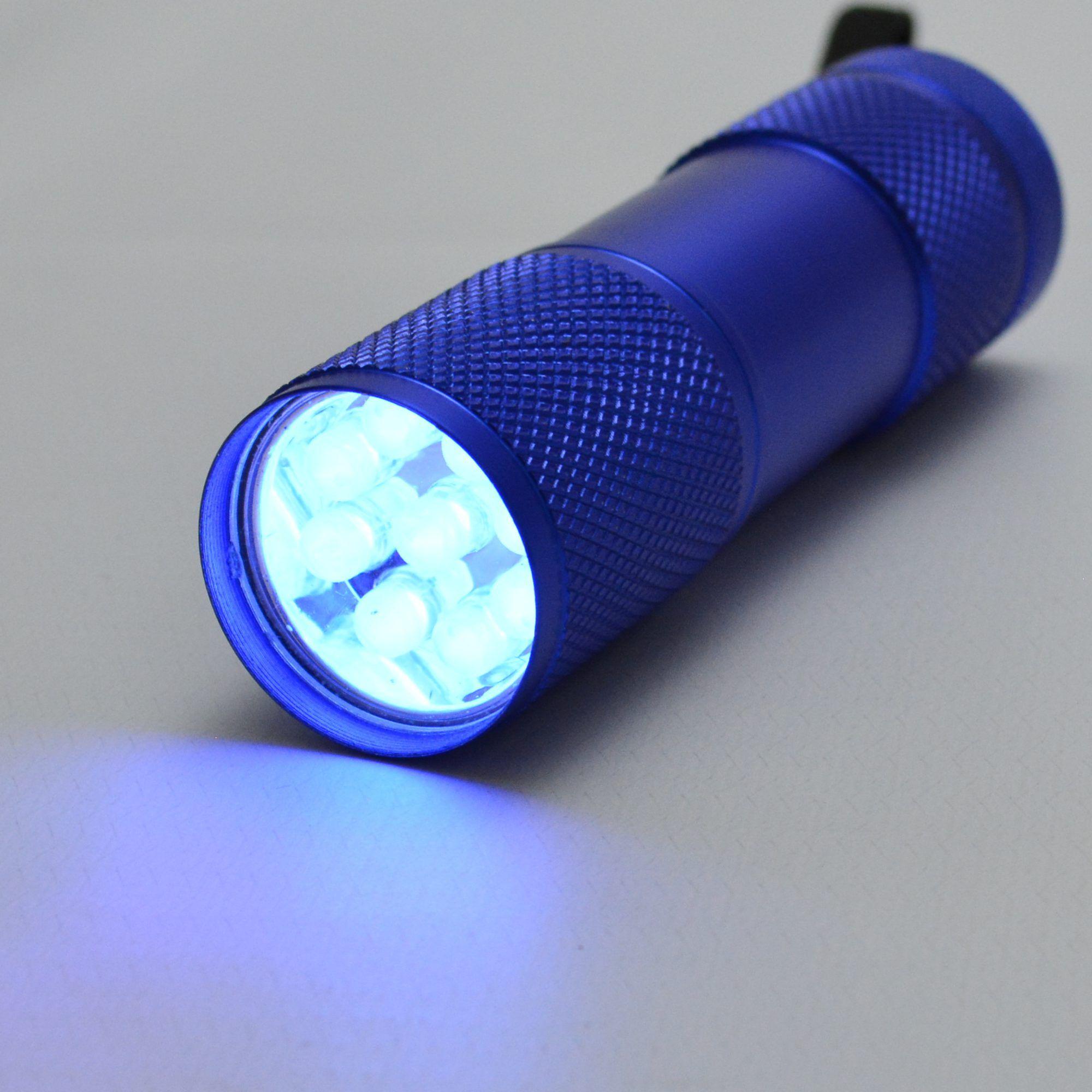 Detector de Dinheiro Falso Escorpião 9 LEDs UV Kit 5 Peças Azul CBRN11841