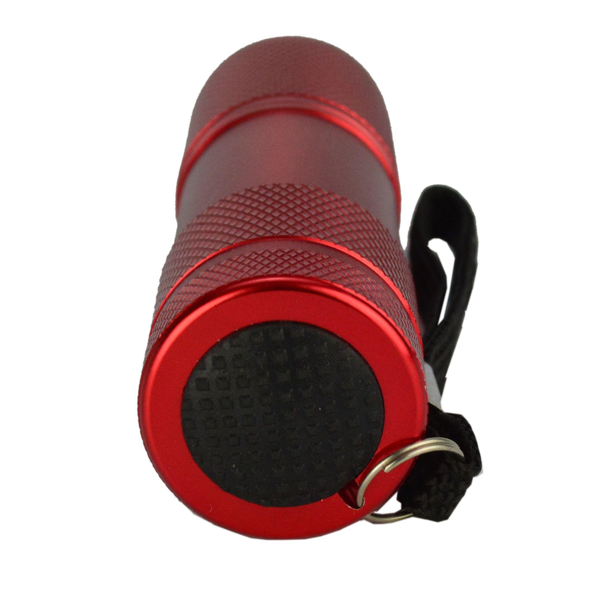 Detector de Dinheiro Falso Escorpião 9 LEDS UV Kit 5 Peças Vermelho CBRN11872