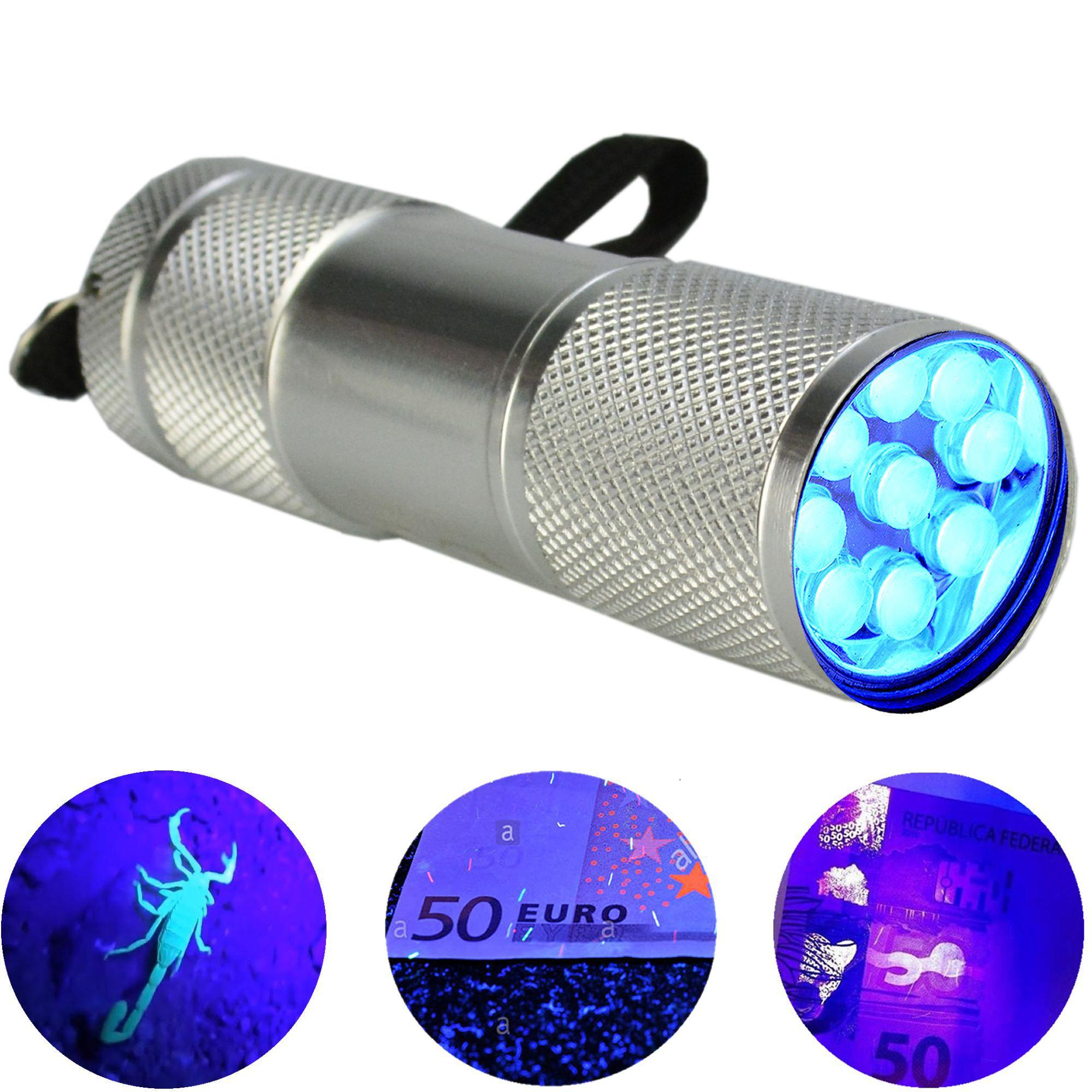 Detector de Dinheiro Falso Escorpião 9 LEDs UV Prata CBRN11827
