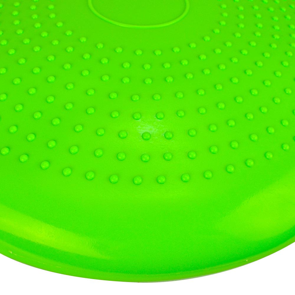 Disco de Equilíbrio Para Exercícios Inflável 33 cm Verde Escuro + Chaveiro CBRN16037