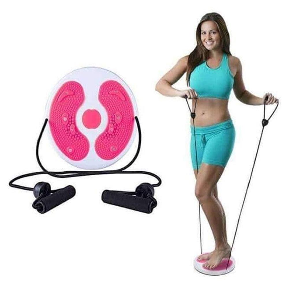 Disco de Torção Cintura Waist Twist Terapia Magnética Pink + Chaveiro CBRN16082