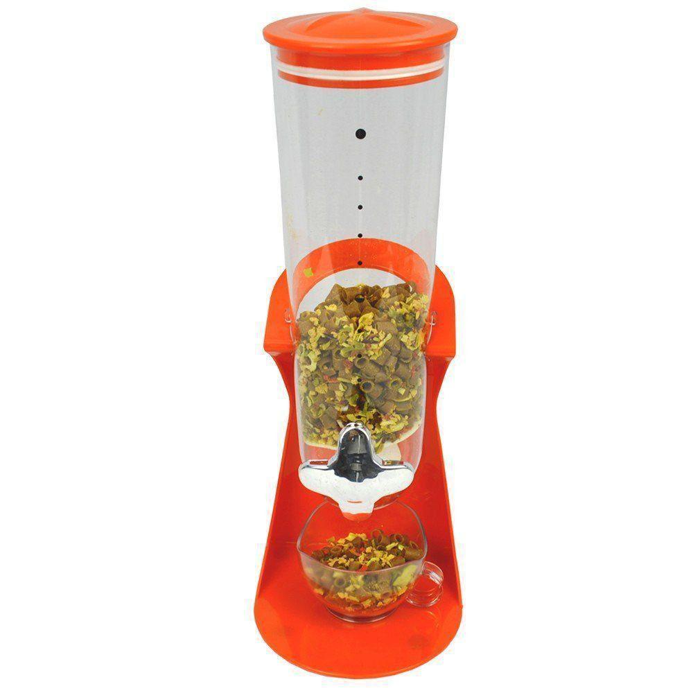 Dispenser De Cereais Grãos e alimentos para Cozinha laranja CBR03419