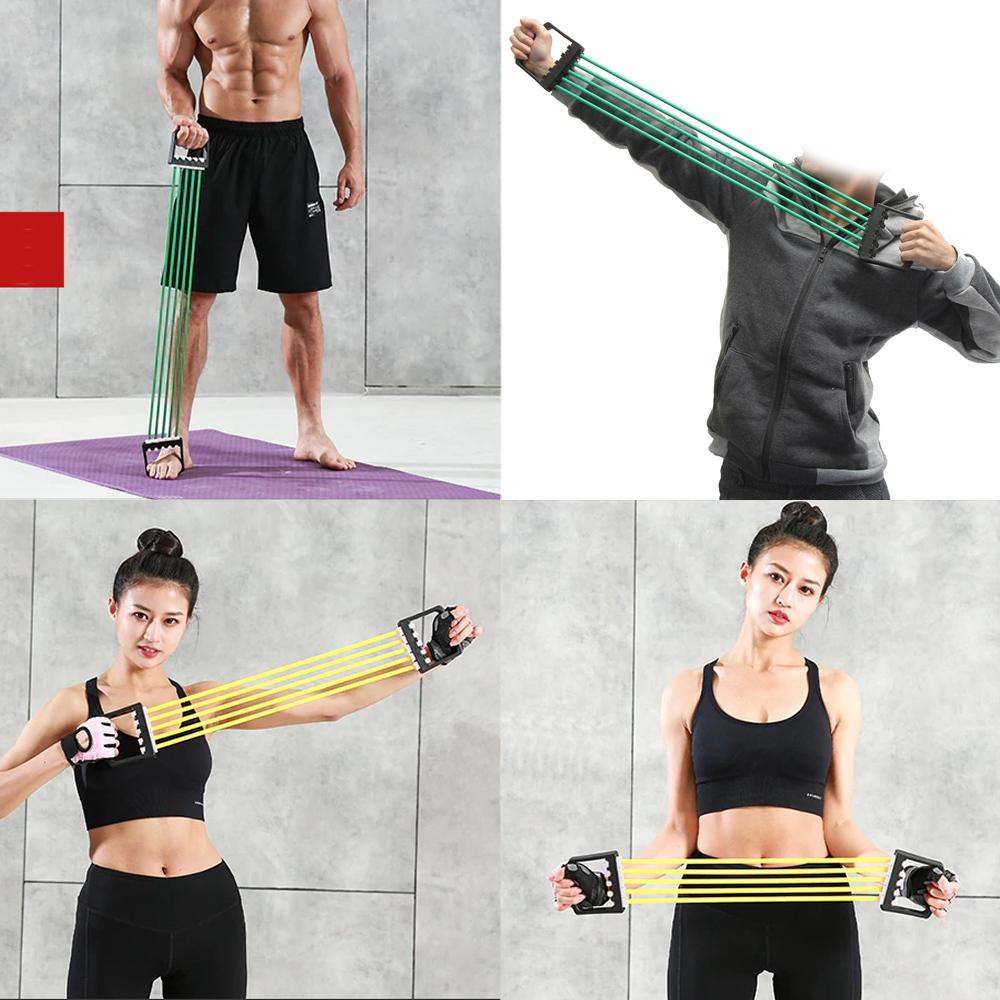Elástico de Tensão Para Exercícios Vermelho + Suporte Celular CBRN16228