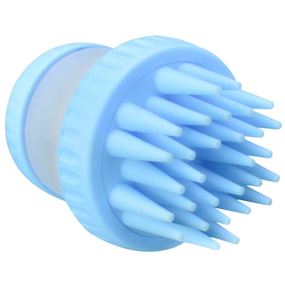 Escova de Silicone com Dispenser para Cachorro Gato Azul CBRN14439