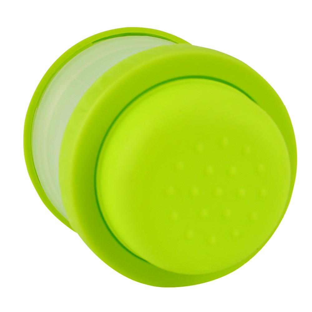 Escova de Silicone com Dispenser para Cachorro Gato Verde CBRN14453