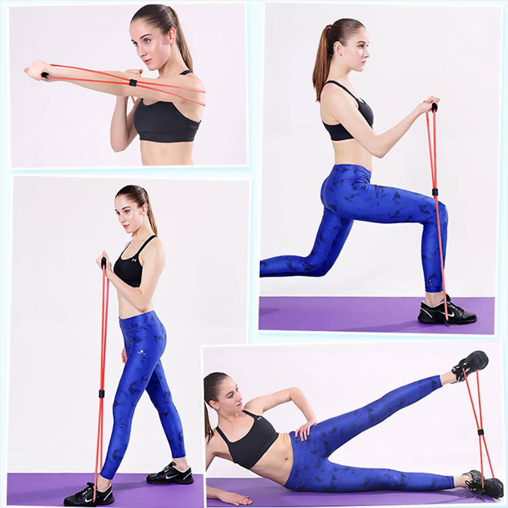 Extensor Elástico Para Exercícios Ginástica Azul + Chaveiro CBRN17959