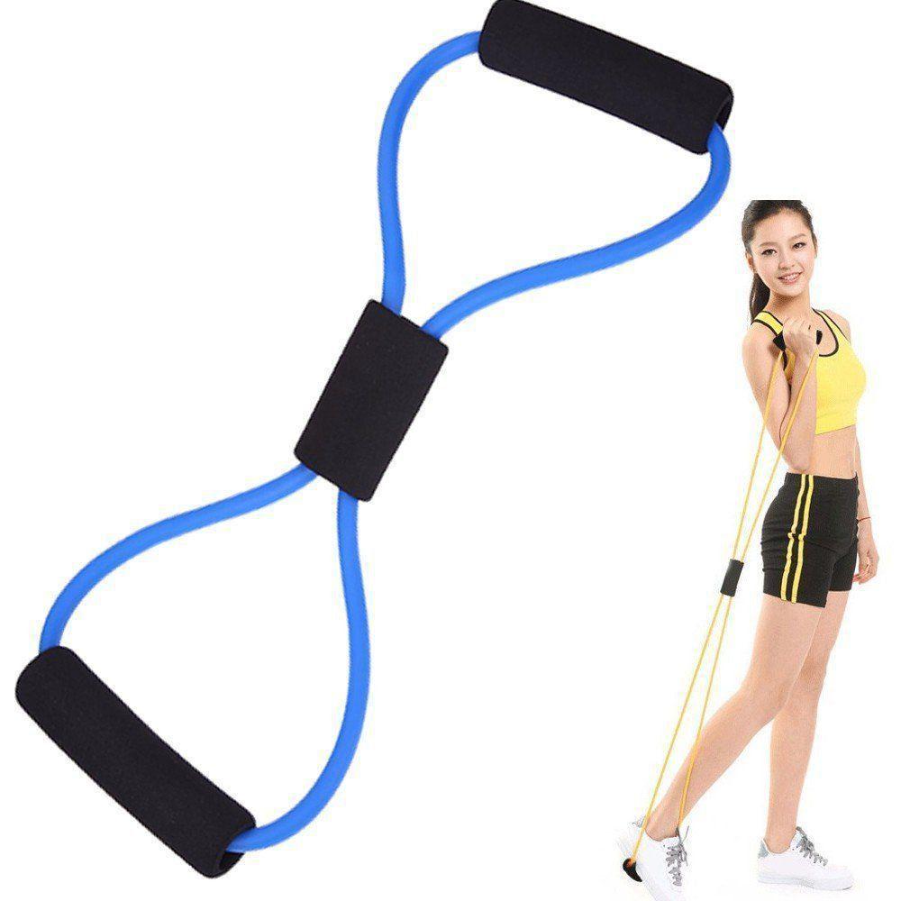 Extensor elástico para exercícios ginástica CBR04249 azul