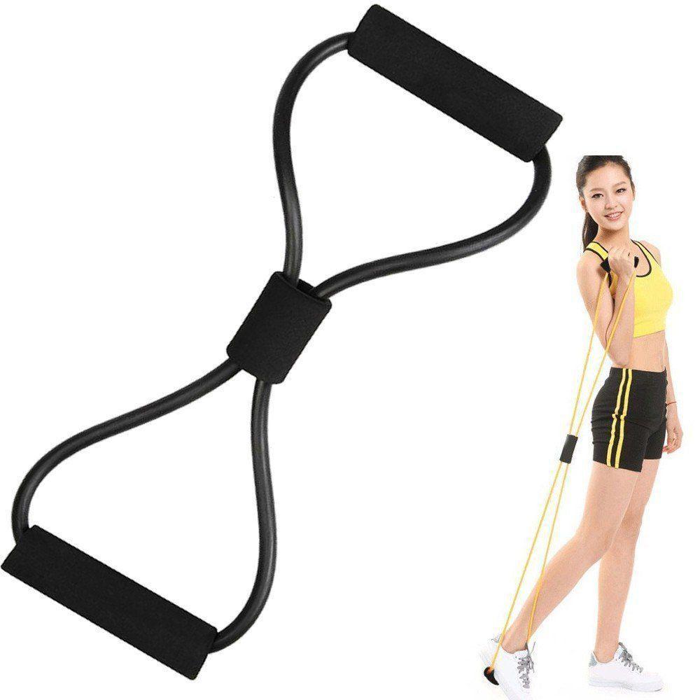 Extensor elástico para exercícios ginástica CBR04256 preto