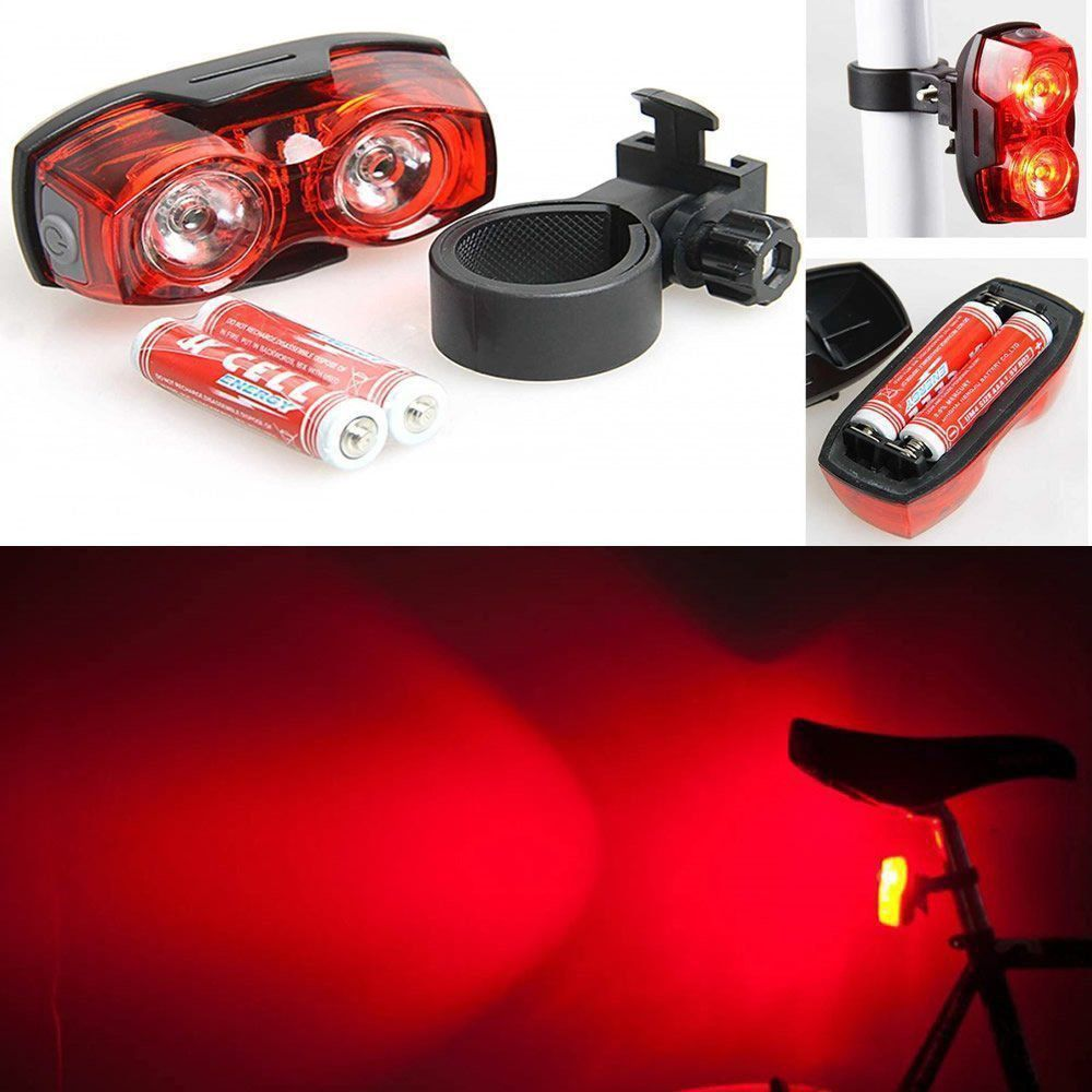 Farol de Bicicleta Traseiro 2 Leds Strobo ou Fixo CBRN01804