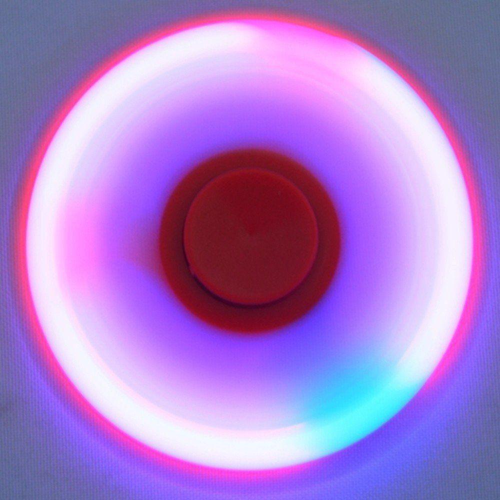 Fidget Hand Spinner Anti Stress com LED botão ON/OFF VERMELHO CBRN03808