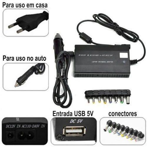 Fonte Universal Notebook Laptop Carregador 120W 505A bi-volt