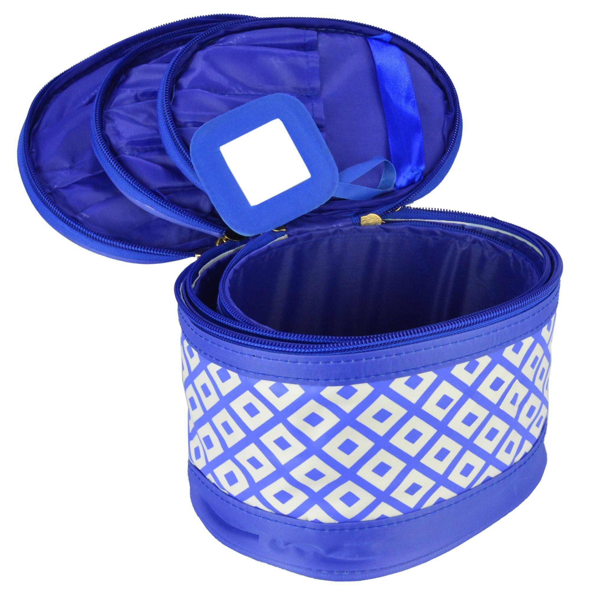 Frasqueiras Necessaire Feminina Azul Kit 3 Peças CBRN08322