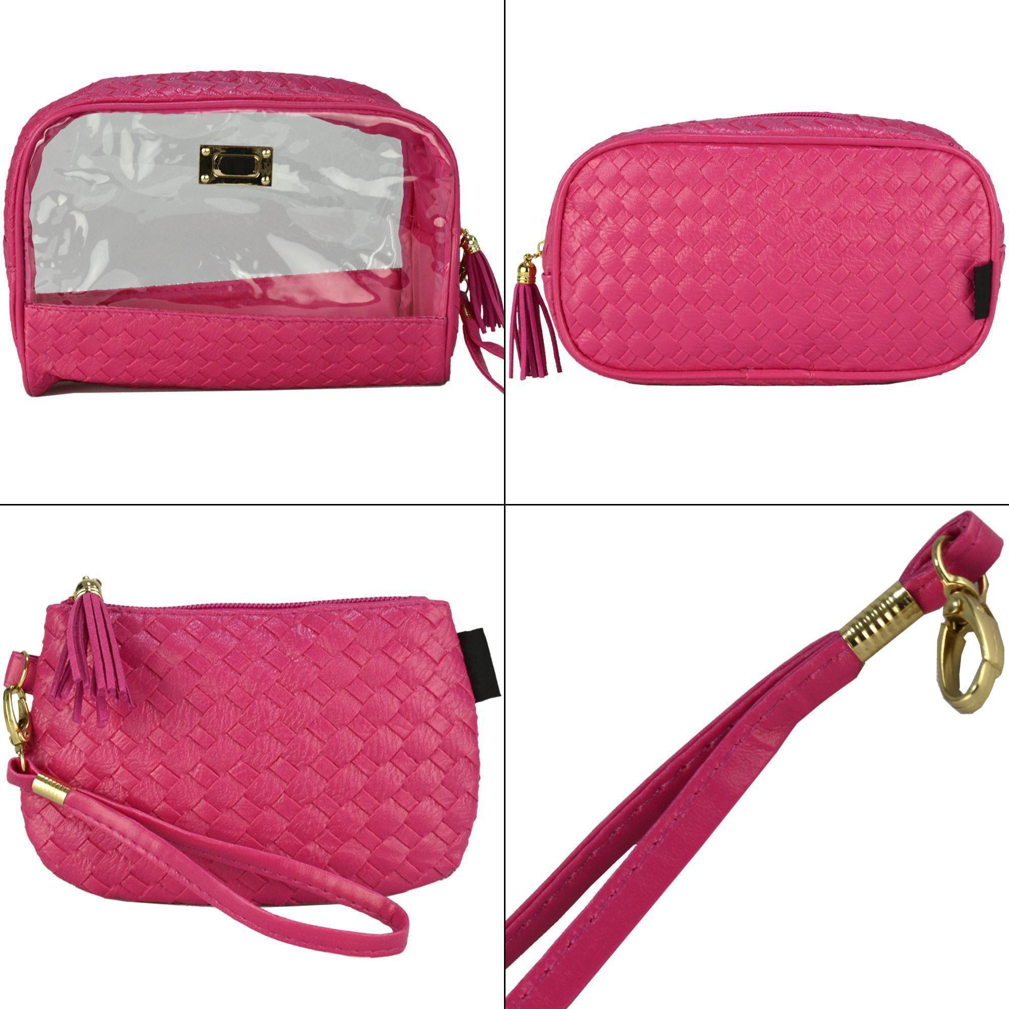 Frasqueiras Necessaire Feminina Luxo Pink Kit 3 Peças CBRN08285