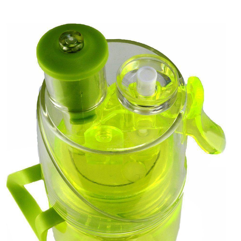 Garrafa de Água Com Borrifador Squeeze Hidratação Verde CBRN08414