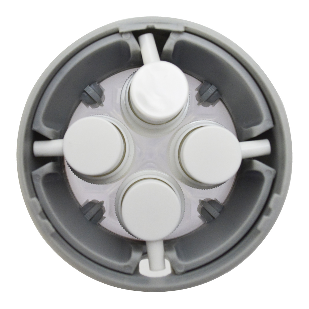 Garrafa Portátil 4 em 1 Dispenser Viagem 30 ml Cinza + Chaveiro CBRN18345