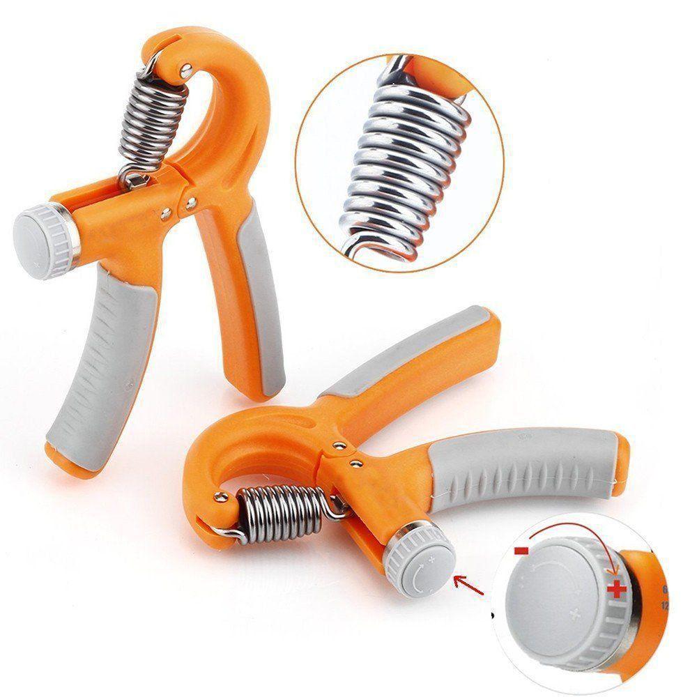 Hand Grip exercitador para mãos punho emborrachado CBR03082 laranja