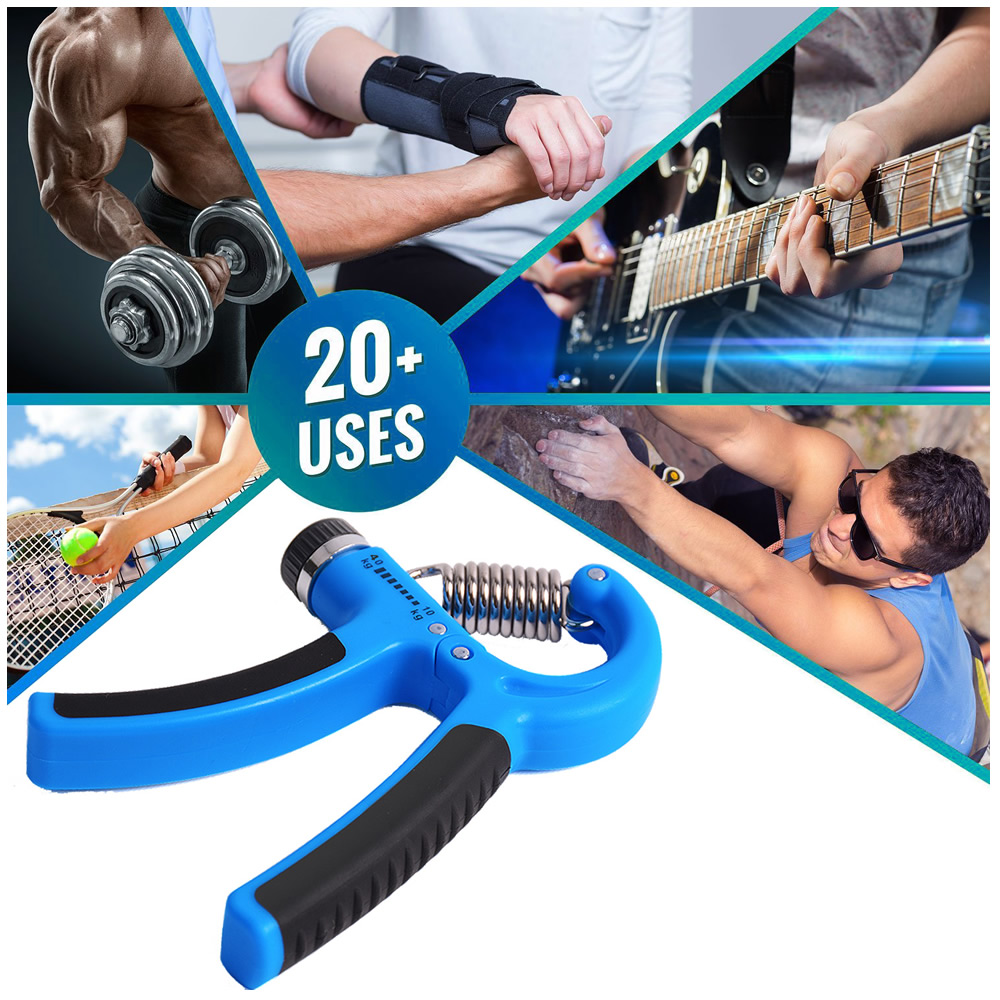 Hand Grip Exercitador Para Mãos Punho Emborrachado Vermelho + Chaveiro CBRN15917