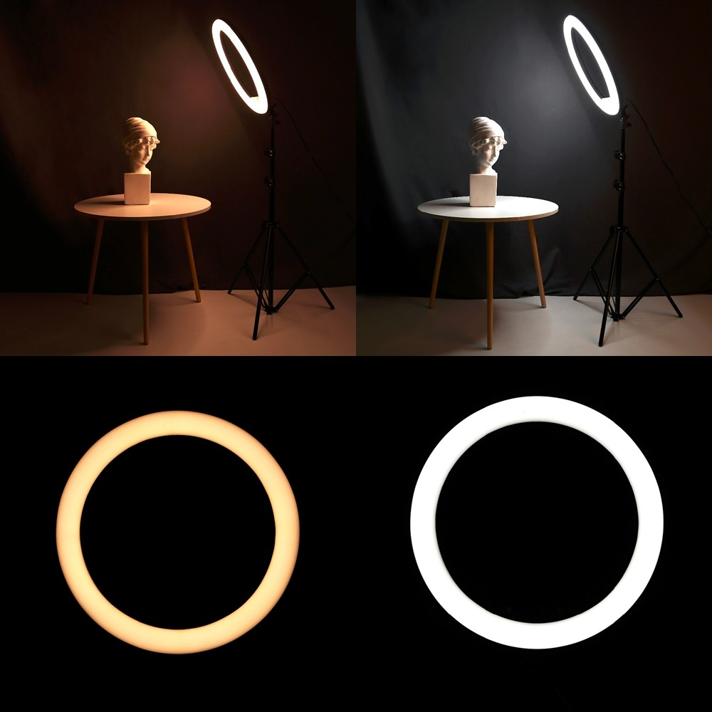 Iluminador Ring Light 26 cm USB com tripé 2,10 metros + Tripé Flexível CBRN14590