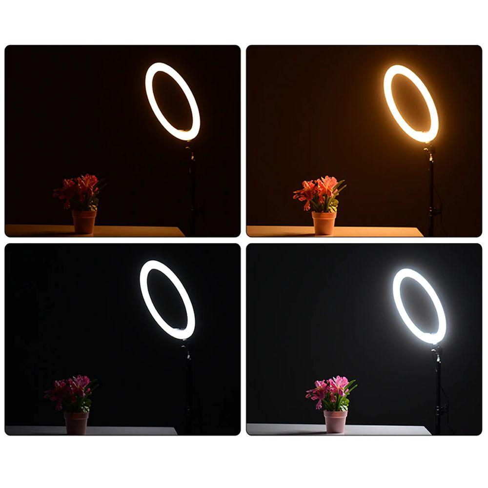 Iluminador Ring Light 26 cm USB com tripé 2,10 m + tripé flexivel + SACOLA CBRN10943