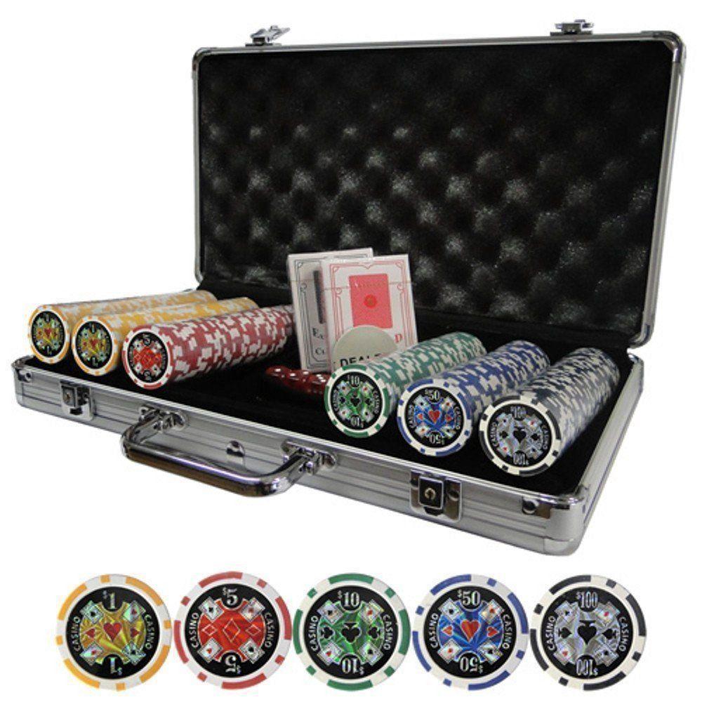 Jogo de Poker 300 Fichas numeradas Maleta Pequenos Amassados Venda no estado VNE038