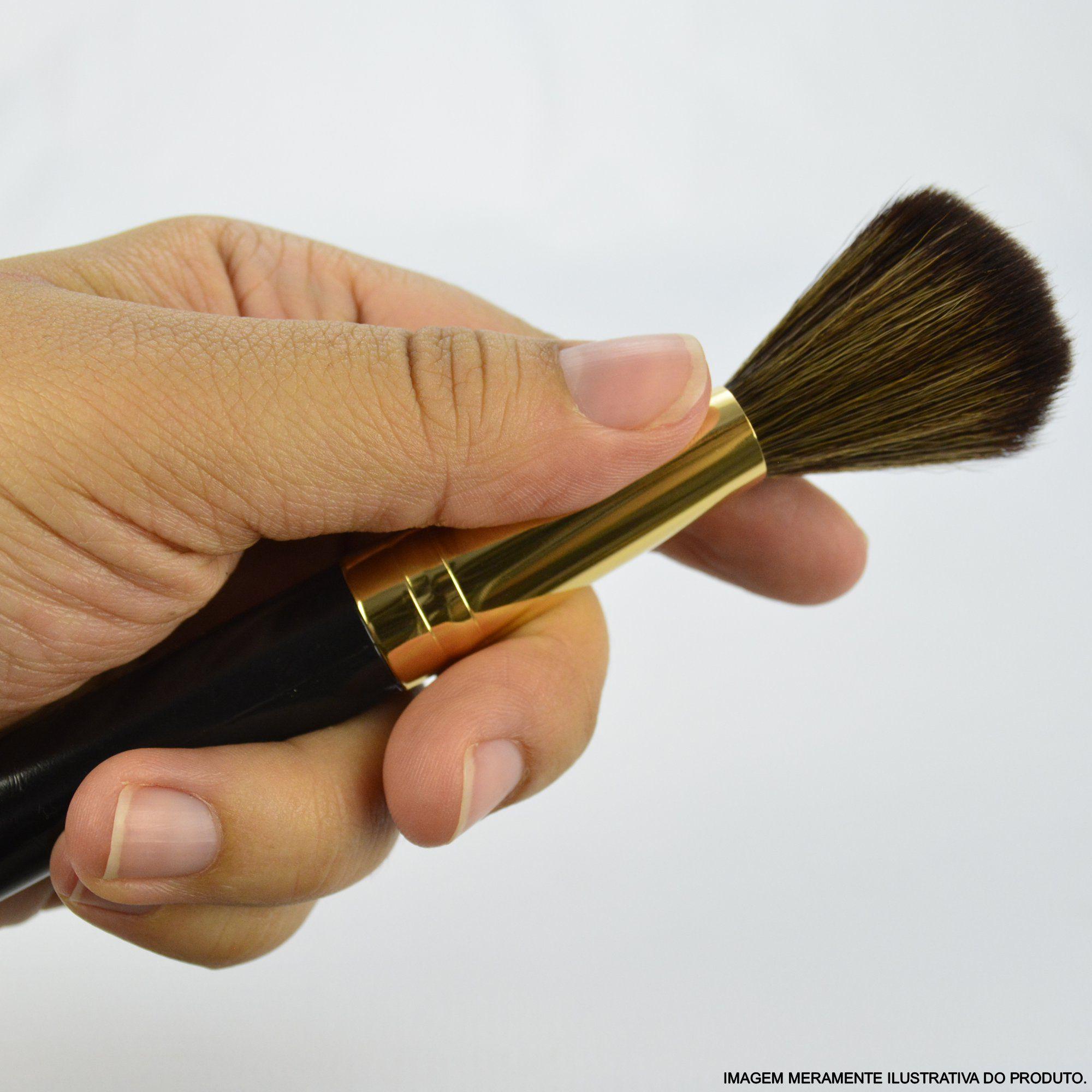 Kit 12 Pincéis Para Maquiagem Luxo Marrom CBRN11001