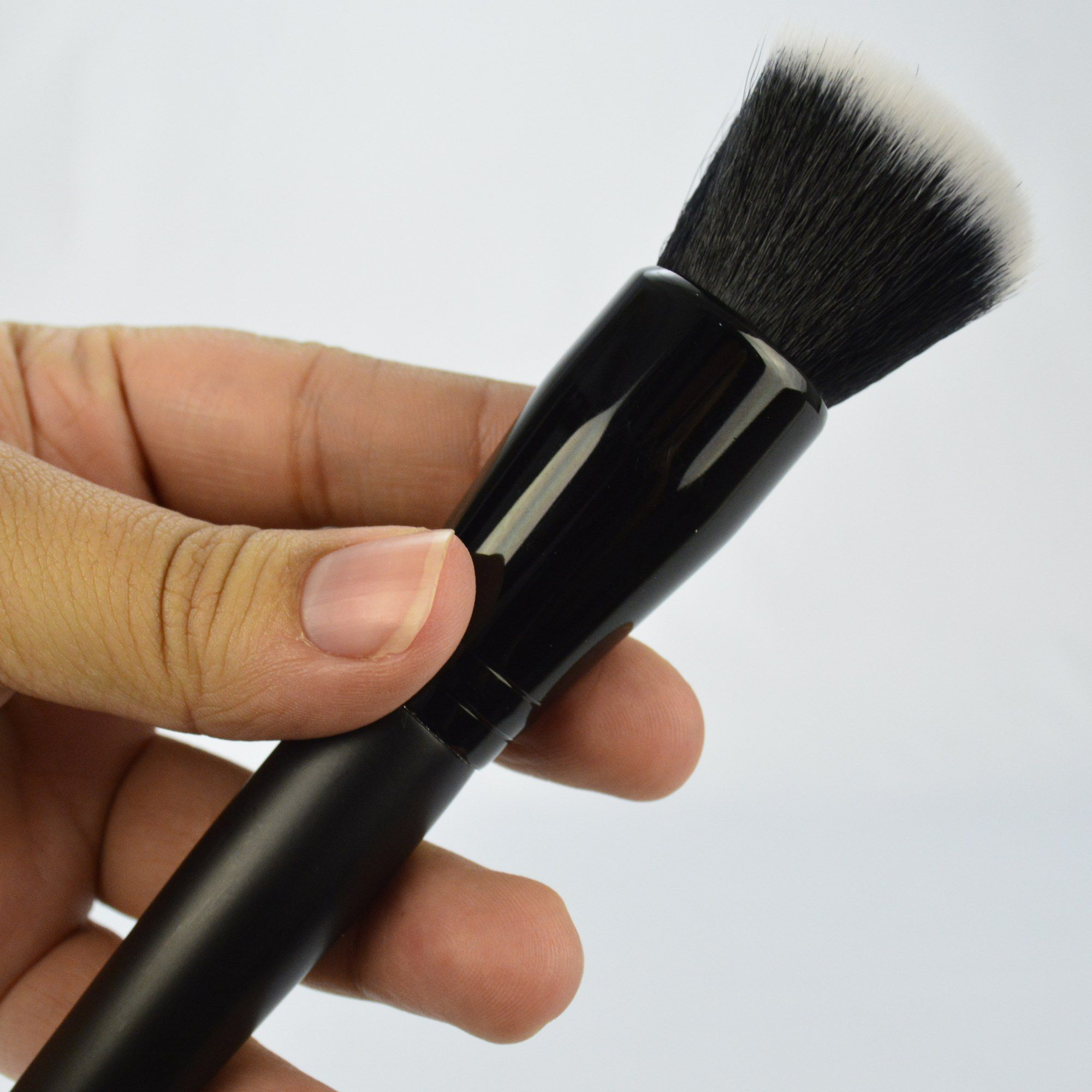Kit 8 Pincéis Para Maquiagem Luxo Preto CBRN11032