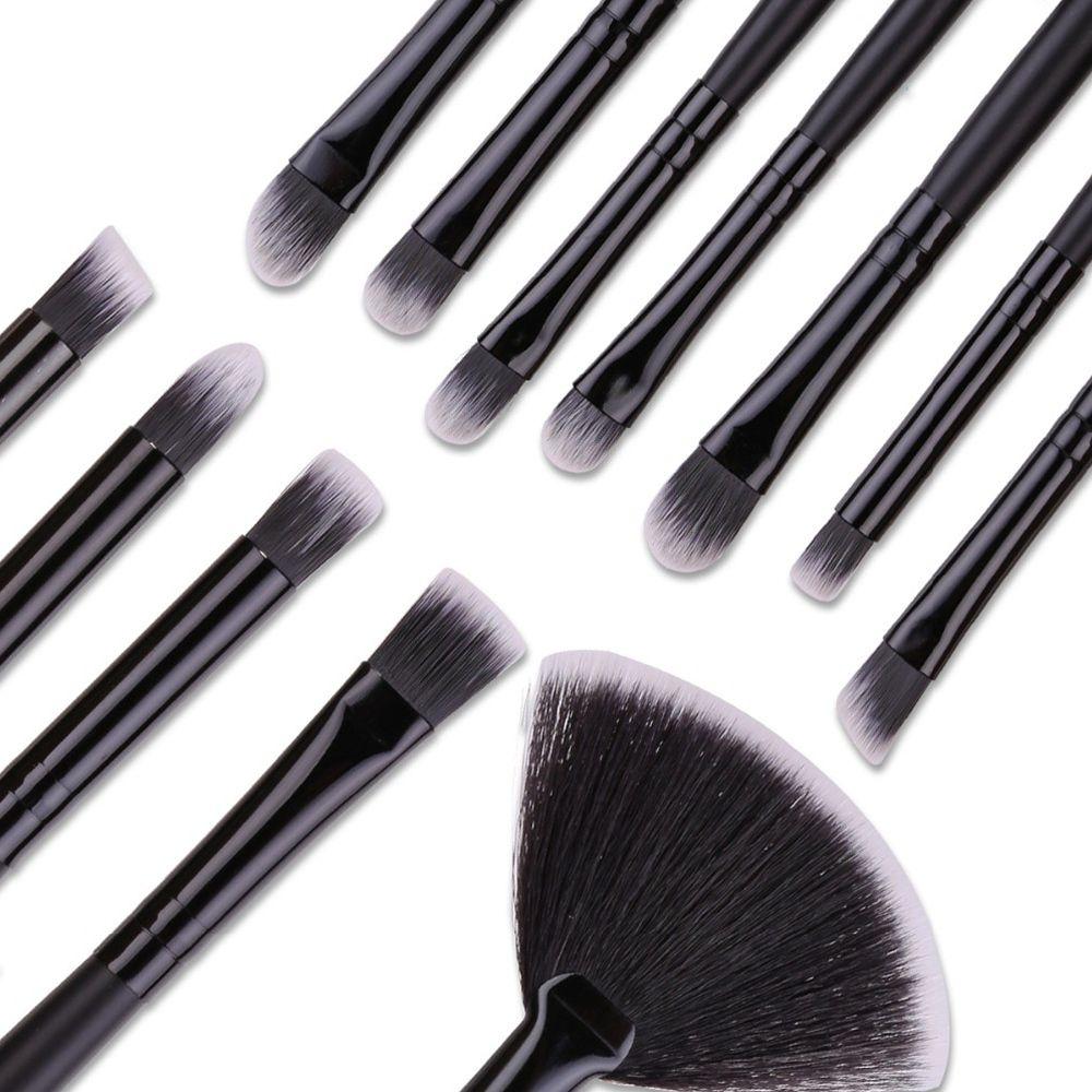 Kit de 32 Pincéis Para Maquiagem Profissional com Estojo Preto CBRN10431