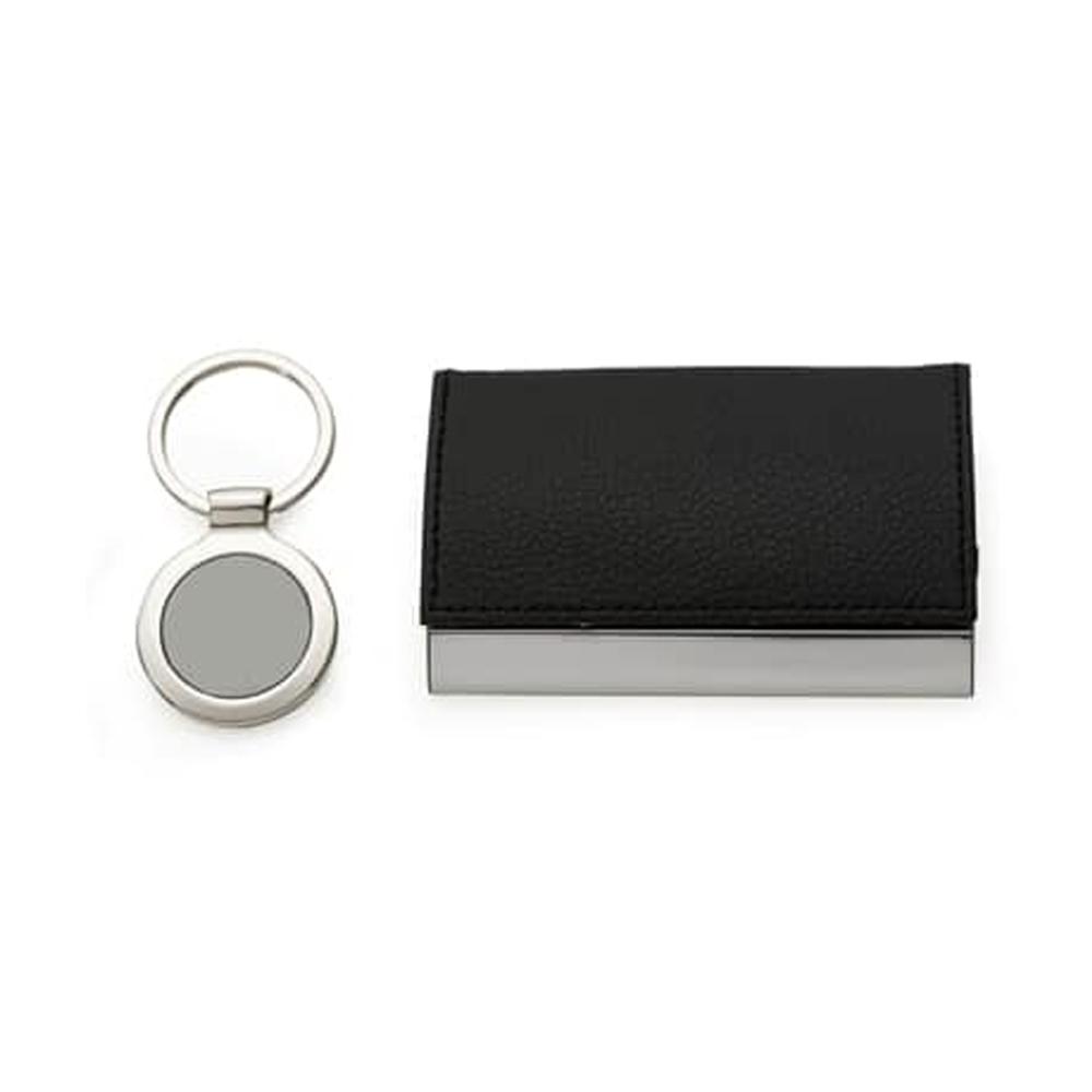 Kit Executivo Porta Cartão e Chaveiro CBRB0006
