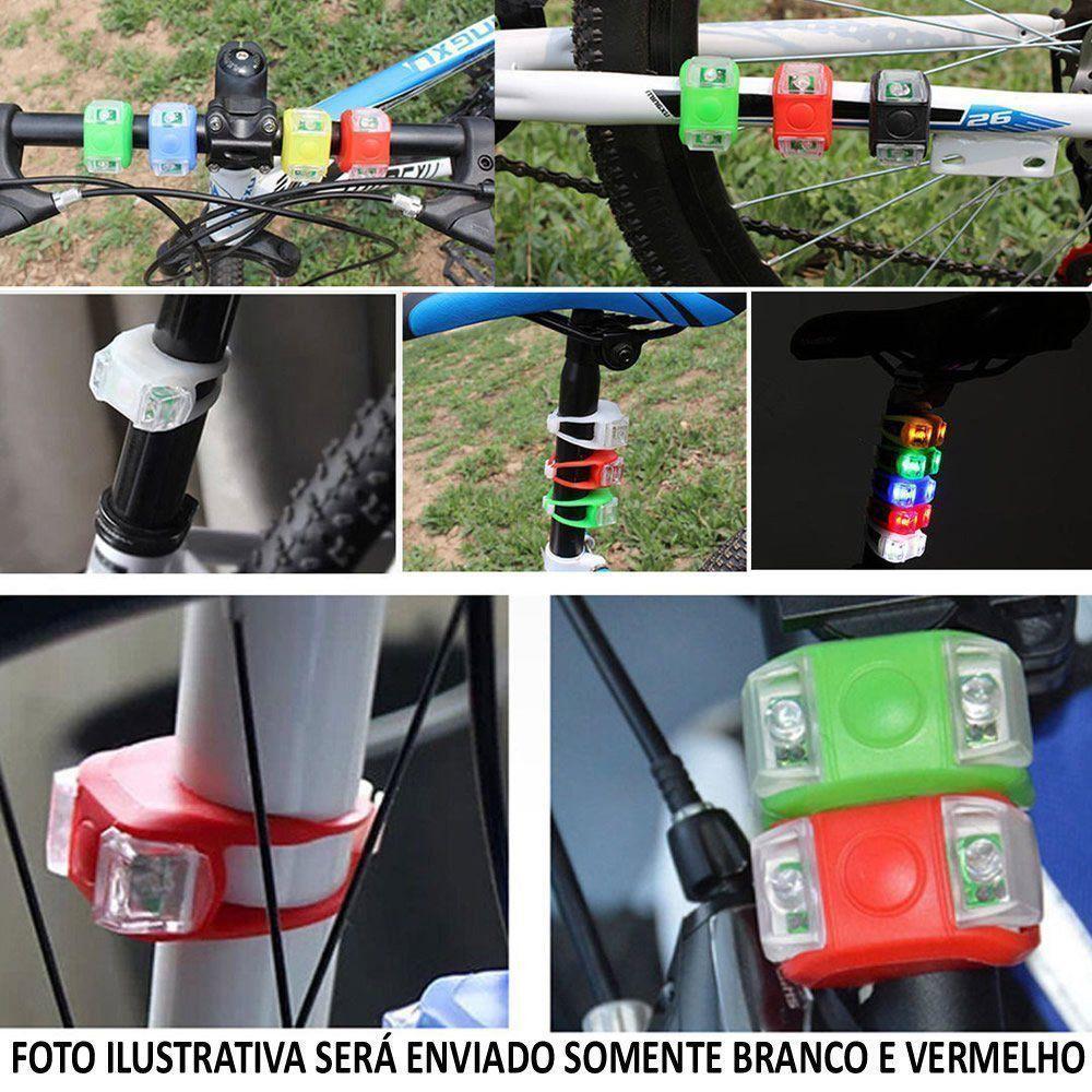 Kit Farol para Bicicleta 2 Peças Traseiro e Dianteiro CBRN01811