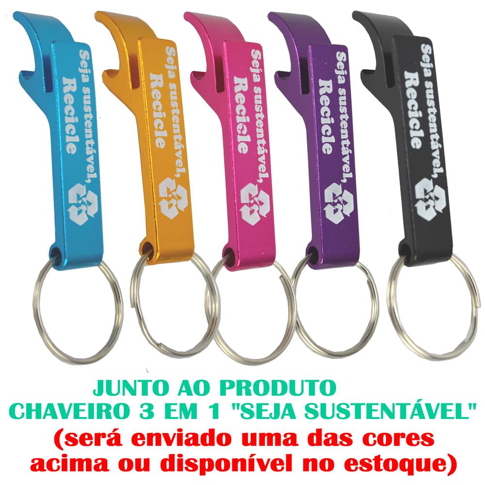Kit Jogo de Soquetes Estriados 16 Peças  + Chaveiro CBRN17942