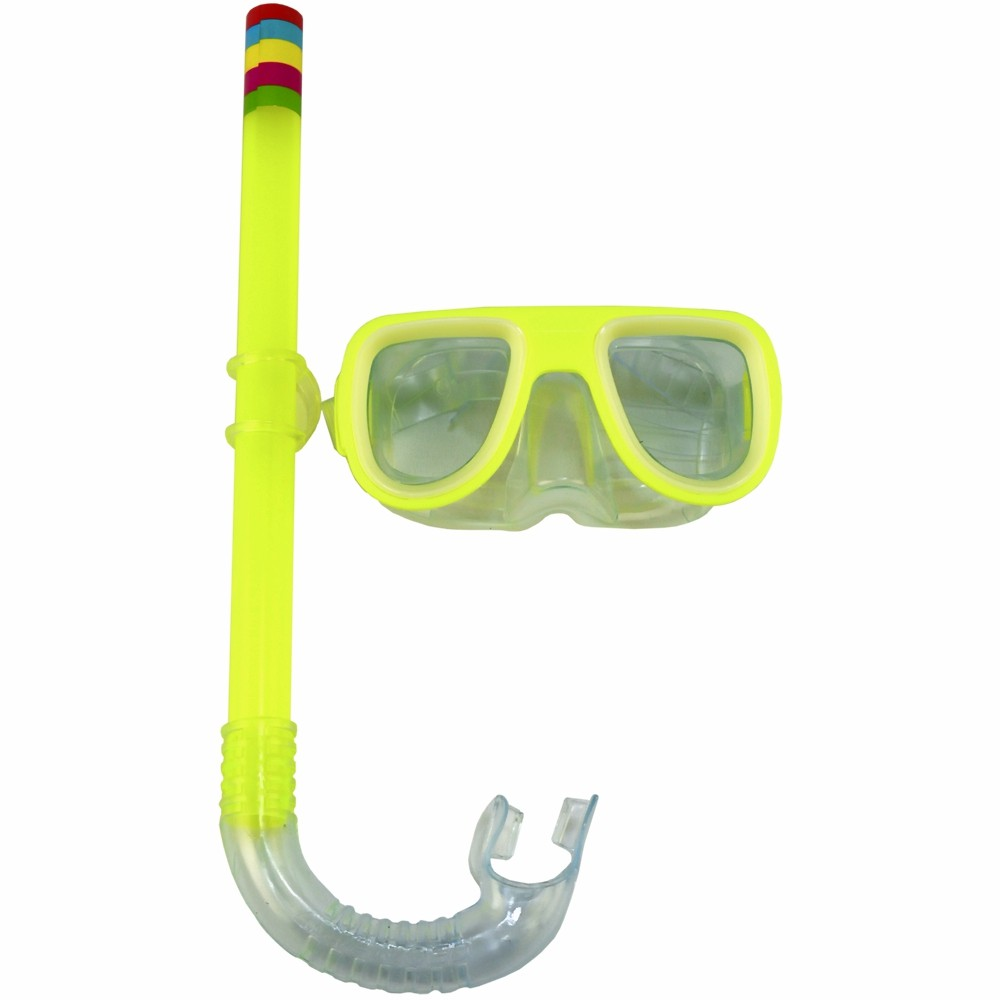 Kit Snorkel Infantil Máscara Amarelo CBRN15177