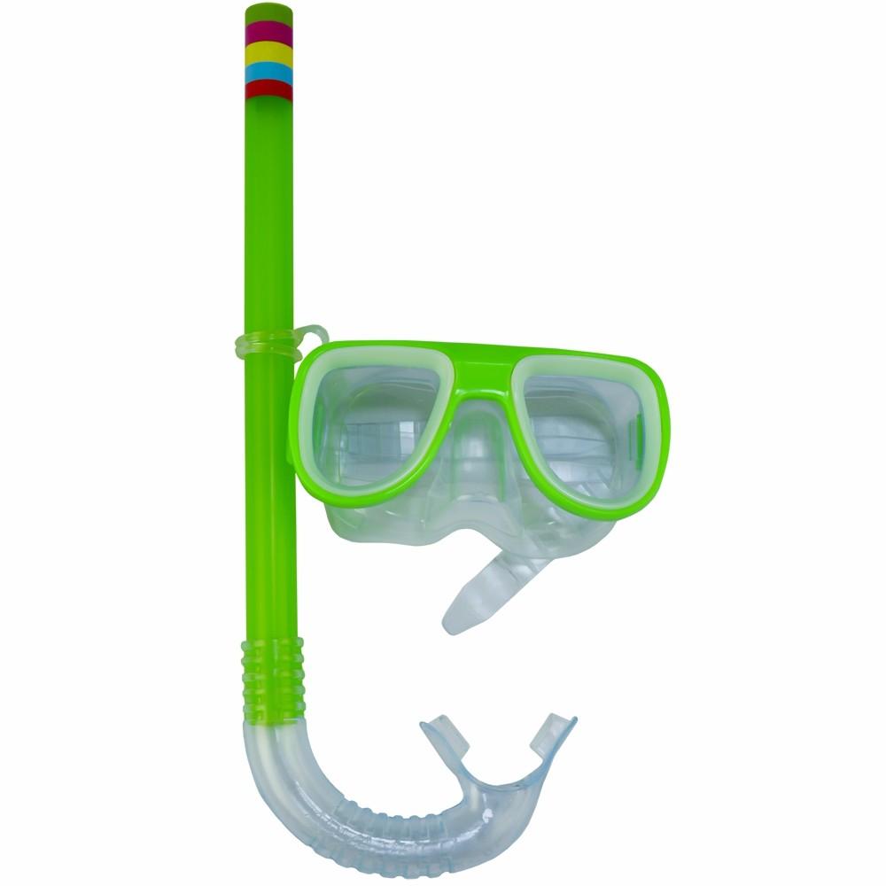 Kit Snorkel Infantil Máscara Verde CBRN15191