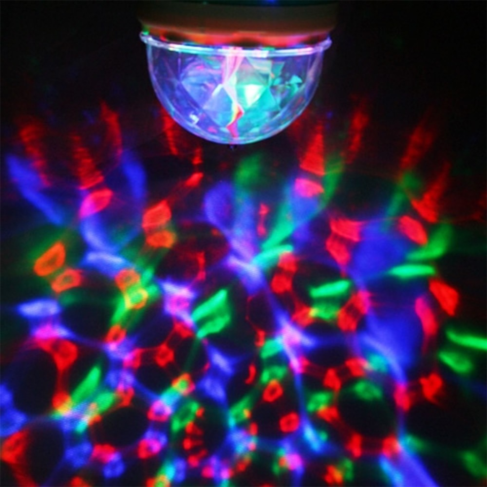 Lâmpada De LED Colorido Giratório Festa CBRN15610