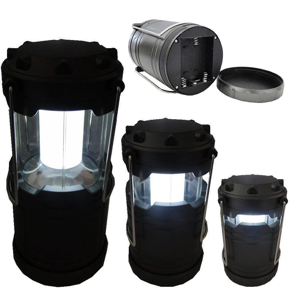 Lanterna Lampião Camping a Pilhas 4 LEDS PRATA CBRN01248