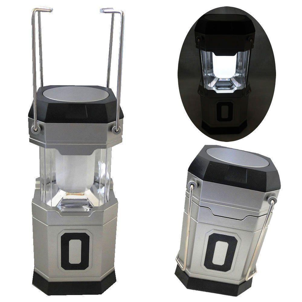 Lanterna lampião Camping a Pilhas 6 LEDS PRATA CBRN01279