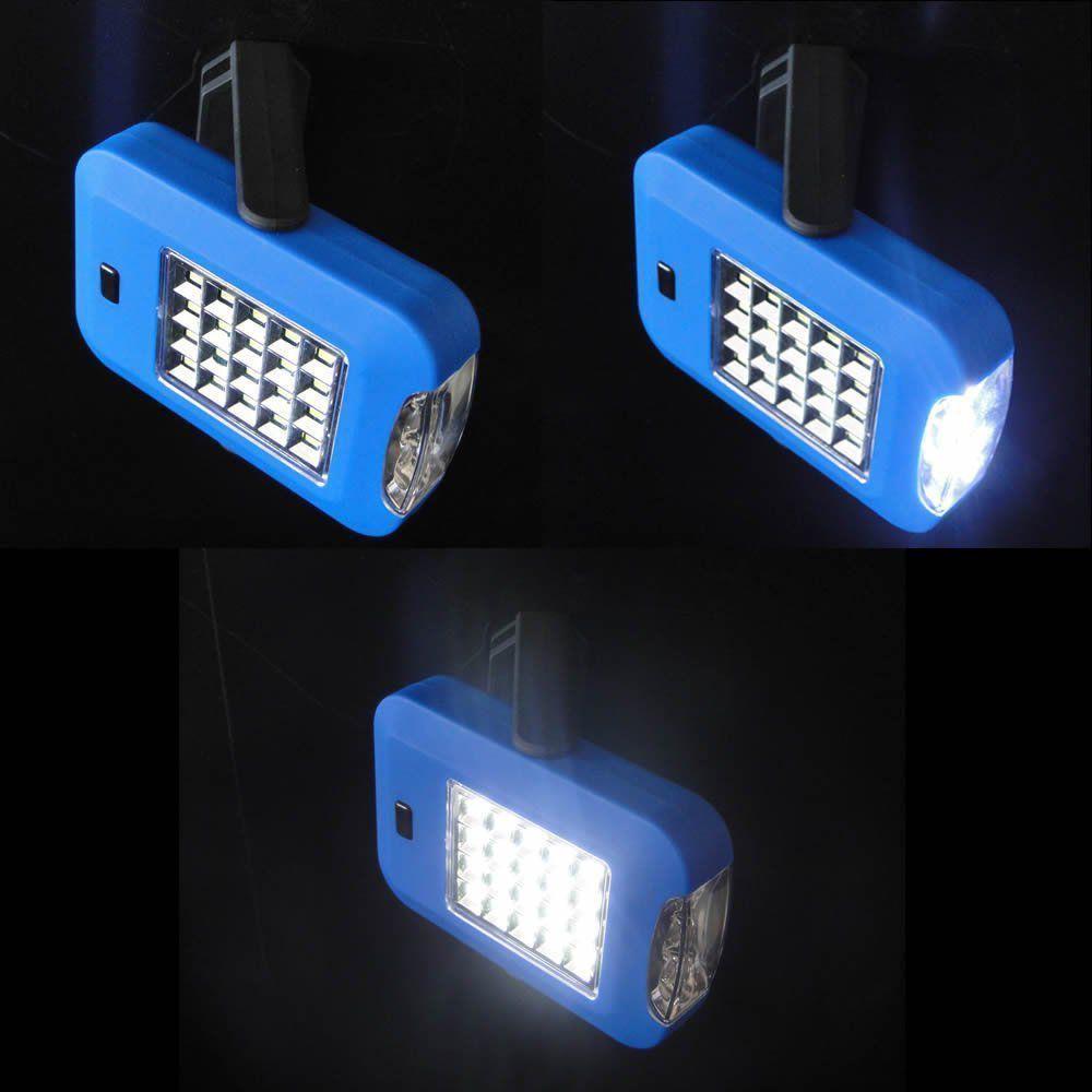 Lanterna de leds com imã/gancho a pilha AZUL CBRN01309