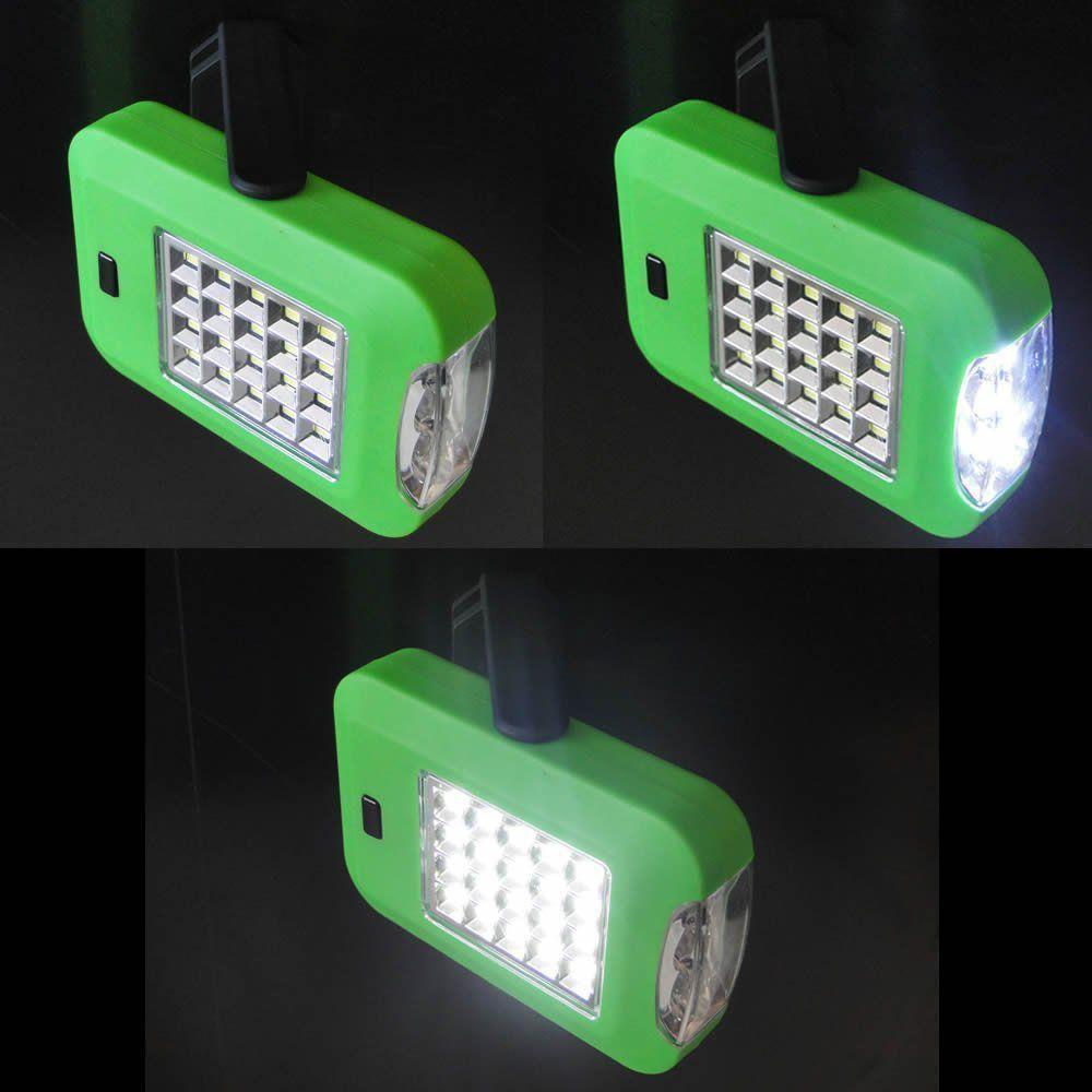 Lanterna de leds com imã/gancho a pilha VERDE CBRN01323