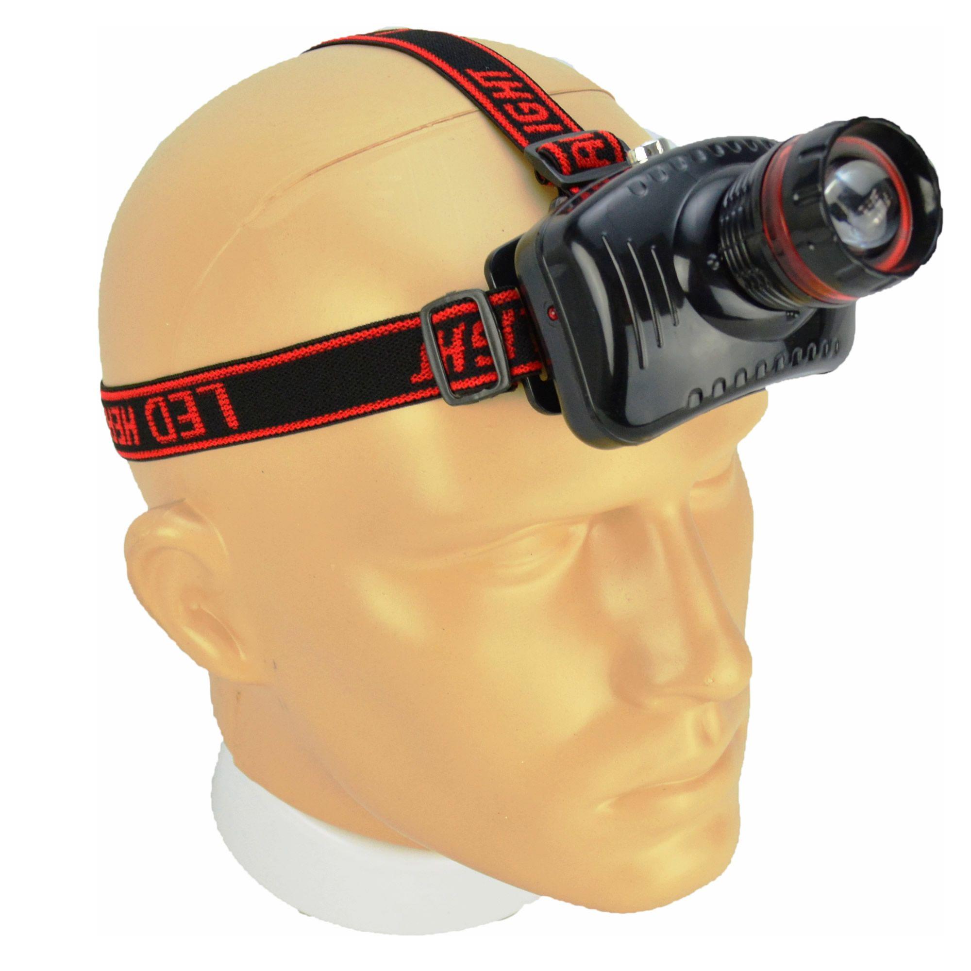 Lanterna de Cabeça Recarregável Foco Ajustável CBRN11636