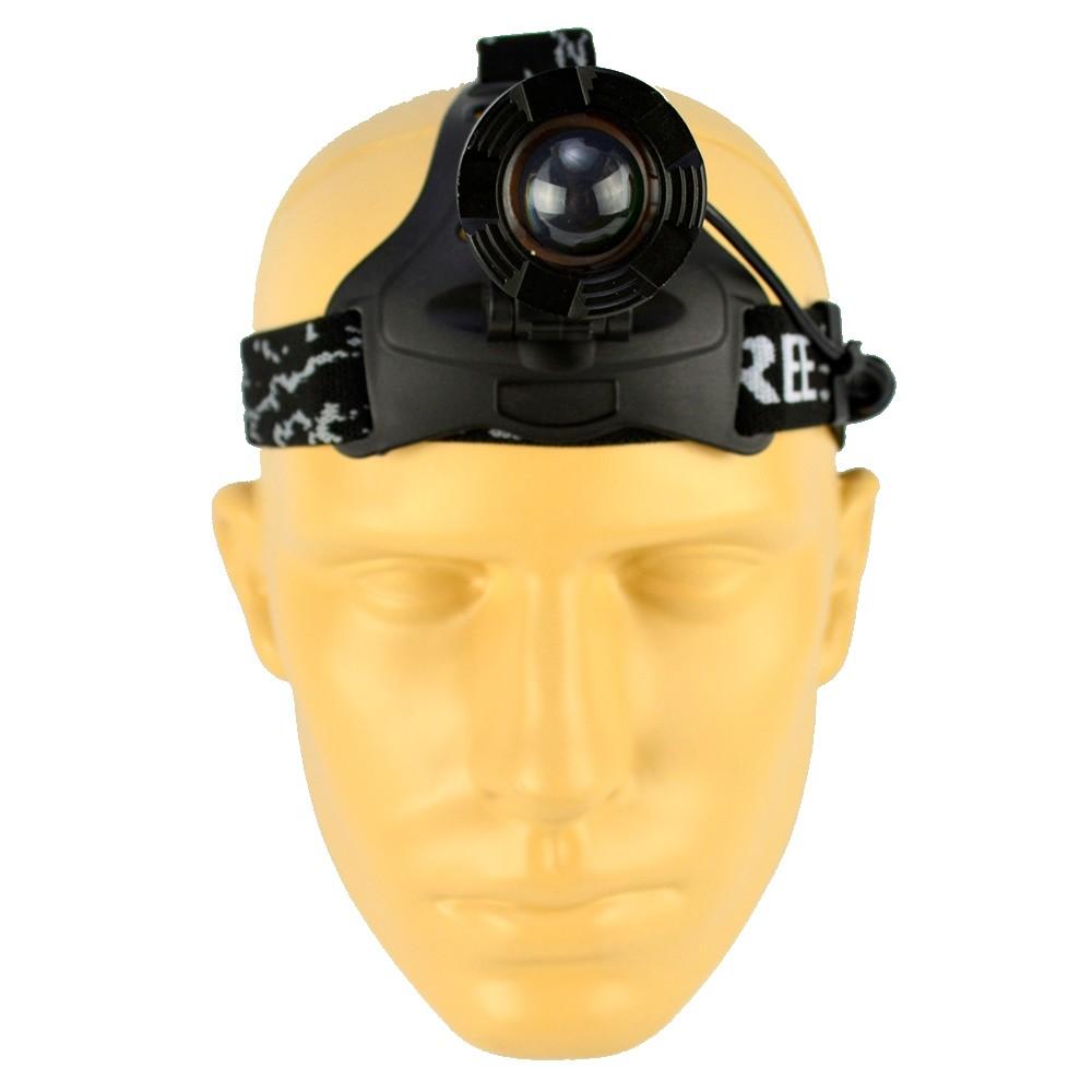 Lanterna de Cabeça Recarregável LED CREE T6 Zoom Foco Ajustável CBRN15320