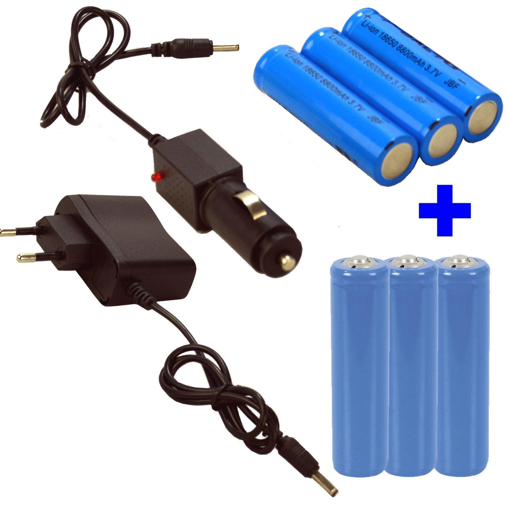 Lanterna LED Cree T6 tática Recarregável forte Preto  6 pilhas CBRN05611