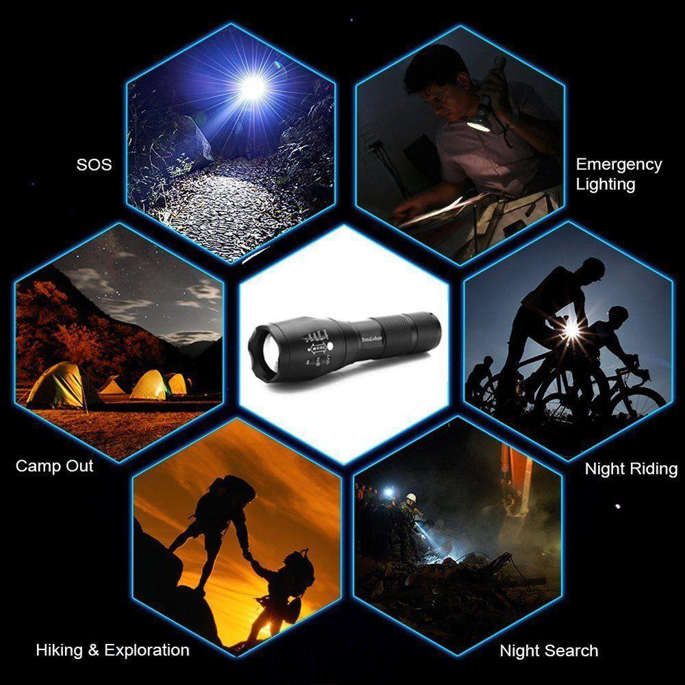 Lanterna Tática Policial LED X900 Recarregável Zoom CBRN10653