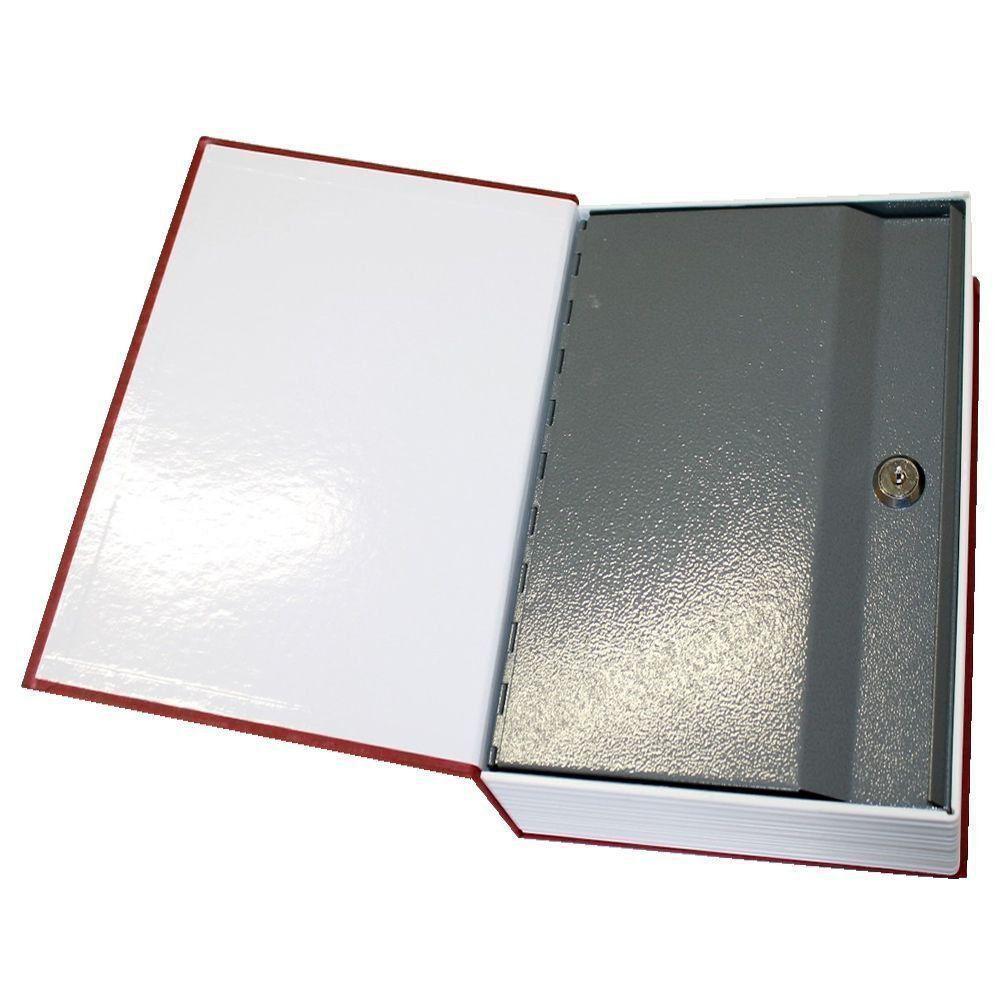 Cofre Livro Aço Book Safe 24 cm Pisa