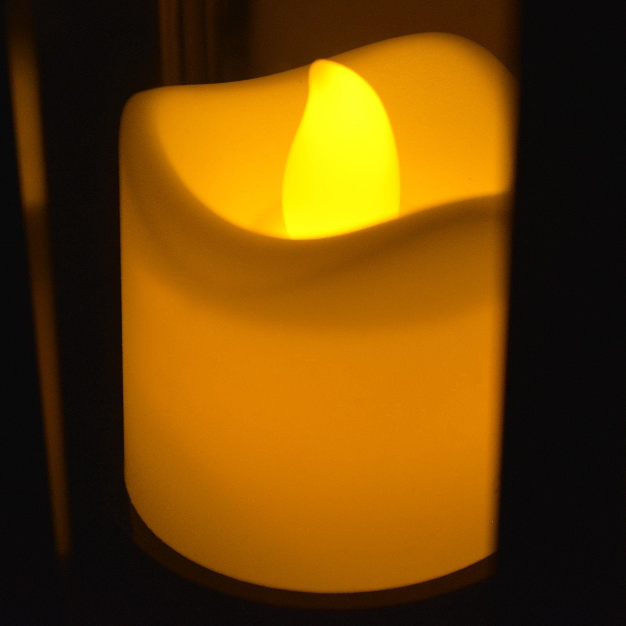 Luminária Lampião Vela LED Chamejante Branco CBRN06830