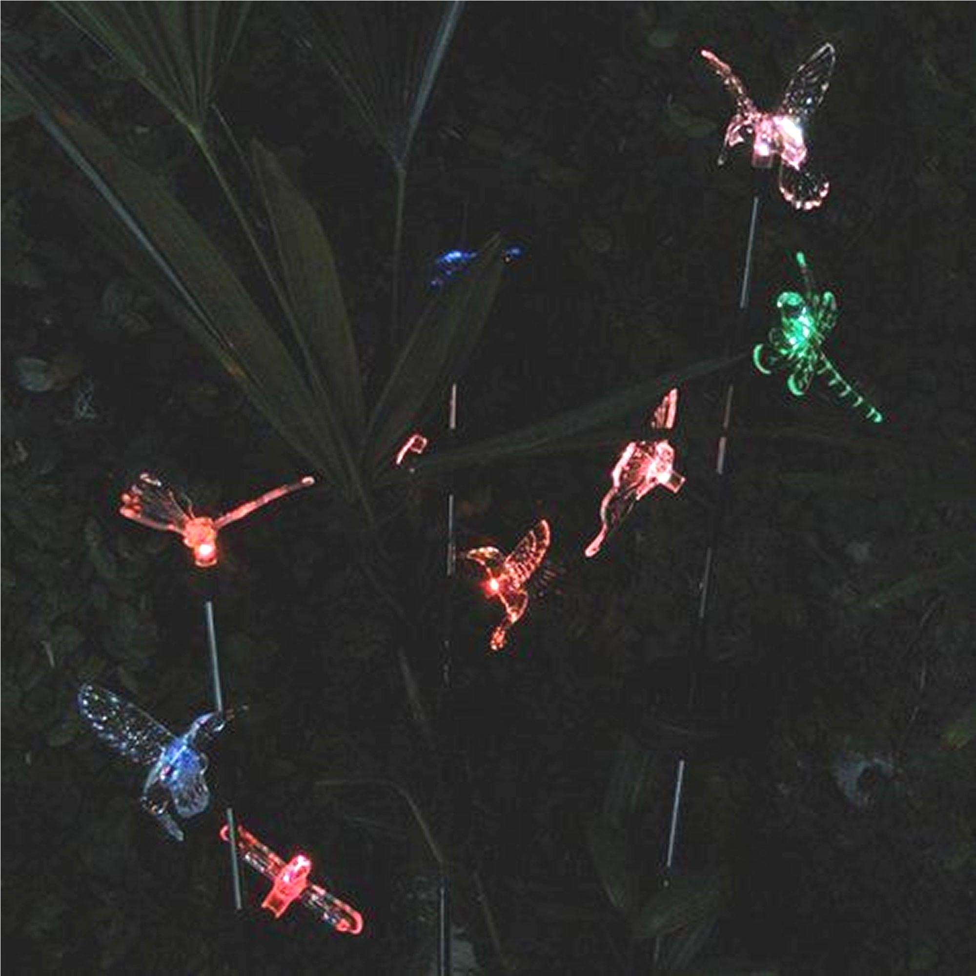 Luminária Solar Beija-flor Borboleta e Libélula 1 Peça CBRN12992