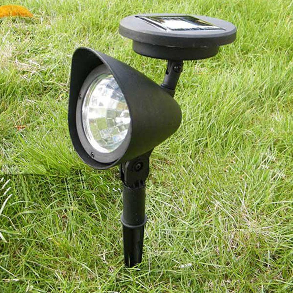 Luminária Solar Jardim PVC Rígido Spot 3 leds 1 peça CBRN13074